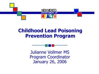 Childhood Lead Poisoning Prevention Program