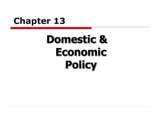 Domestic  Economic Policy