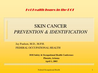 SKIN CANCER PREVENTION  IDENTIFICATION