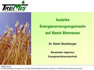 TREMIS Konzept Dr. Dieter Stockburger, Consultant, Prof. Dr. Rainer Reimert Engler-Bunte Institut, Karlsruhe, Dr. Karl M