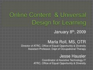 Online Content   Universal Design for Learning