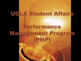 UCLA Student Affairs   Performance Management Program PMP