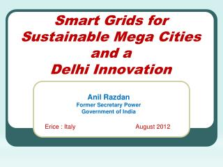 Smart Grids for Sustainable Mega Cities  and a Delhi Innovation