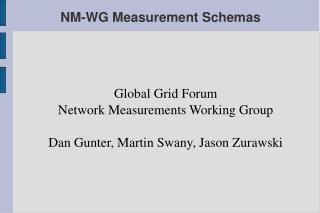 NM-WG Measurement Schemas