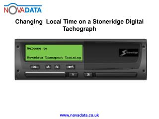 Welcome to  Novadata Transport Training