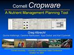 Cornell Cropware  A Nutrient Management Planning Tool
