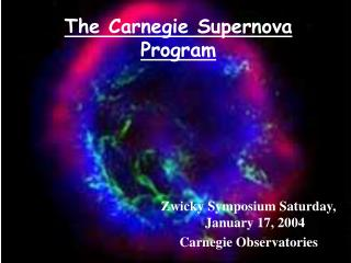 The Carnegie Supernova Program
