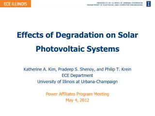 Effects of Degradation on Solar Photovoltaic Systems