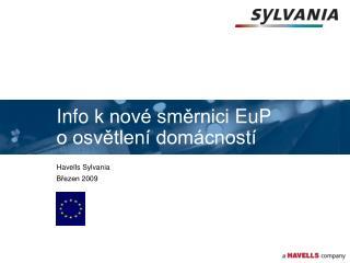 Info k nov  smernici EuP o osvetlen  dom cnost