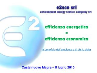 E2sco srl environment energy service company srl