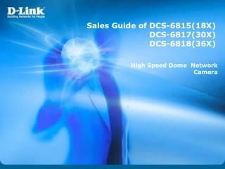 Sales Guide of DCS-681518X DCS-681730X DCS-681836X