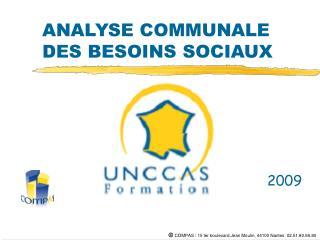 ANALYSE COMMUNALE DES BESOINS SOCIAUX