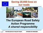 Saving 20,000 lives on our roads