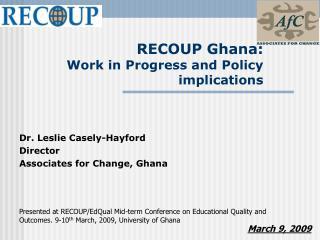 RECOUP Ghana: