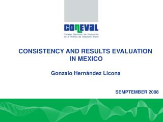 The Context: Performance Evaluation System SED   Consistency and Results Evaluation