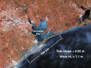 Tide range  0.65 m     Wave ht.  1.1 m