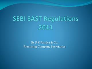 SEBI SAST Regulations 2011