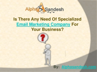Is Your Business Need Specialized Email Marketing Company?
