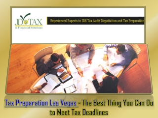 Tax Preparation Las Vegas