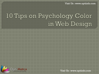 10 Tips on Psychology Color in Web