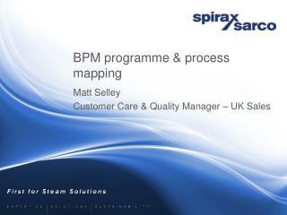 BPM programme  process mapping