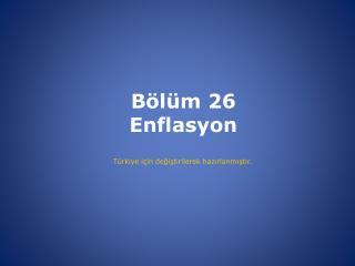 B l m 26 Enflasyon