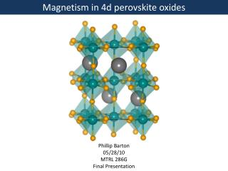 Magnetism in 4d perovskite oxides