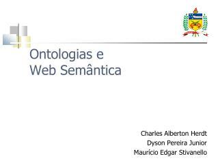 Ontologias e Web Sem ntica