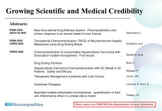 Growing Scientific and Medical Credibility