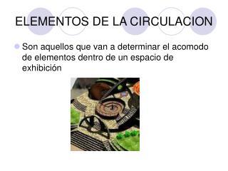 ELEMENTOS DE LA CIRCULACION