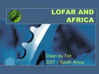 LOFAR AND AFRICA