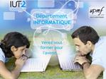 D partement INFORMATIQUE