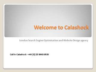 Calashock SEO Agency London - Company presentation