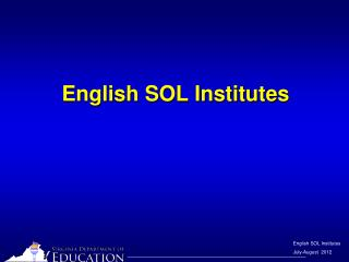 English SOL Institutes