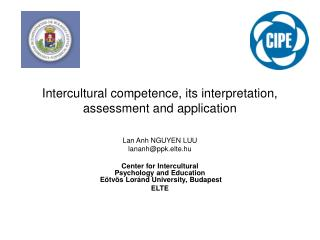 Intercultural competence, its interpretation, assessment and application