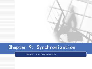 Chapter 9: Synchronization
