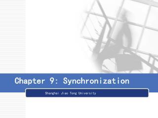 Chapter 9: Synchronization