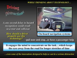 On-board navigation systems