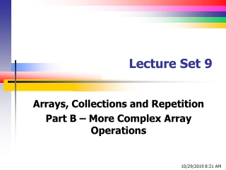 Lecture Set 9