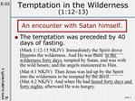 Temptation in the Wilderness 1:12-13