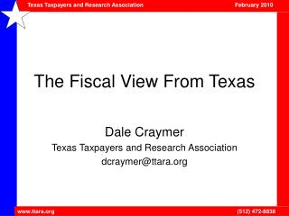 The Fiscal View From Texas