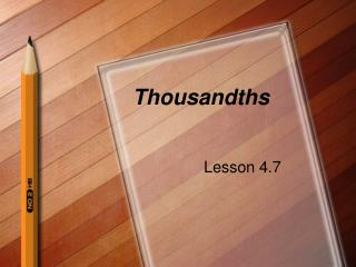 Thousandths