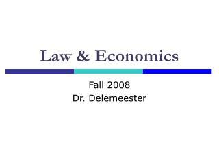 Law  Economics