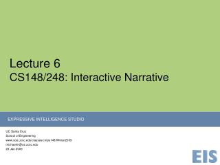 Lecture 6 CS148