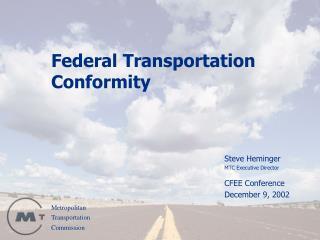 Federal Transportation Conformity