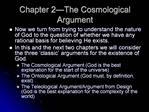 Chapter 2 The Cosmological Argument