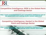 Global RPM & Henkel Paint and Coatings Sector Competitive In