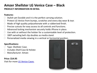 Amzer Shellster LG Venice Case – Black