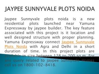 Jaypee Sunnyvale Plots Noida