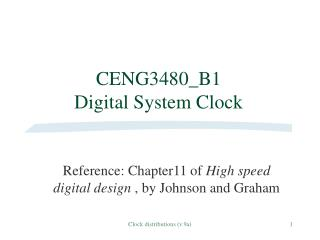 CENG3480_B1  Digital System Clock